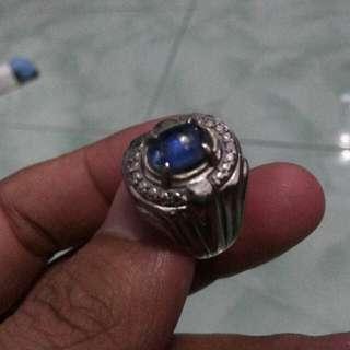 Blue Safir Natural Ring Uk.8