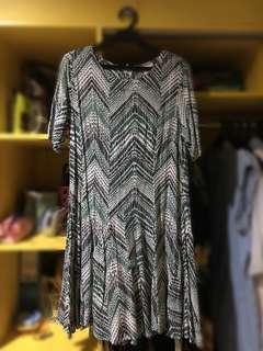 Patterned Green Dress