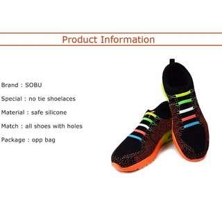 No Tie Shoelaces 16Pcs/Per Lot