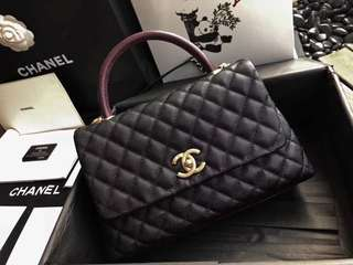 Chanel coco handle with lizard skin