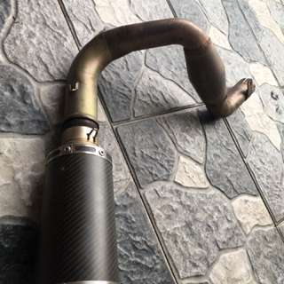 Linkpipe with Muffler for Ktm duke/rc