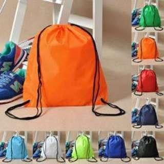 String Drawstring Backpack Gym Tote Bag School Sport Pack