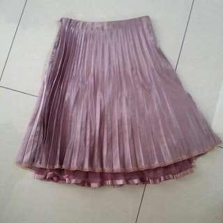 Purple Lilac Pleated Skirt