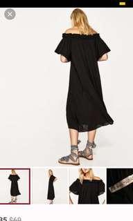 Zara flowy off shoulder dress
