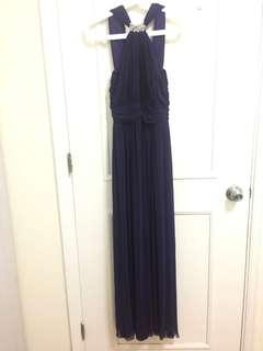 Evening Gown dark purple