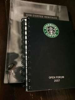 Bundle Sale! Special 2007 Starbucks notebook & 2011 Planner