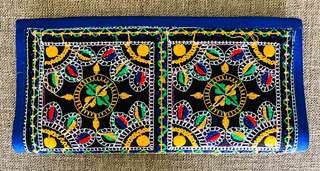 Ethnic embroidered clutch