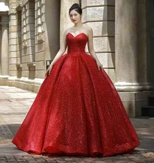 New Elegant style Bra red Princess Qi Tutu Wedding Dress