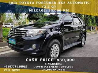 Toyota Fortuner 2013 G A/T (2.5)