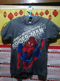 🔴REDUCED PRICE 75PHP Spiderman T-shirt hoodie glow in the dark