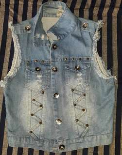 Ripped Maong Vest