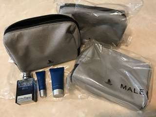 Singapore Airlines Suites amenity kit Ferragamo Salvatore pouch