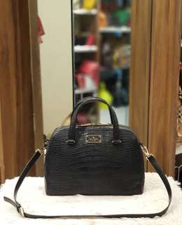 Kate Spade Croc Embossed Satchel Bag