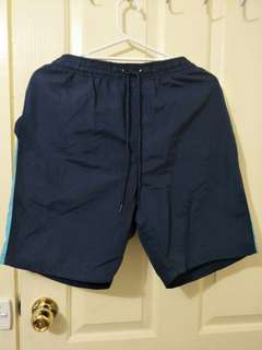 Navy blue and light blue shorts