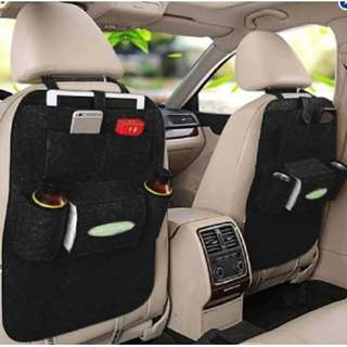 Car Back Seat Organizer Multi-Pocket (black)