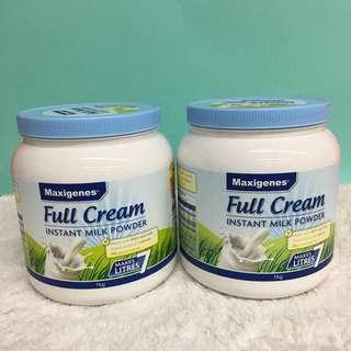 🚚 澳洲 Maxigenes 美可卓(藍胖子)全脂高鈣 奶粉 1kg (罐裝)
