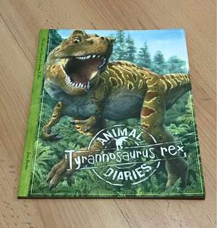 NEW Tyrannosaurus Rex Dinosaur Animal Diary Storybook for Children