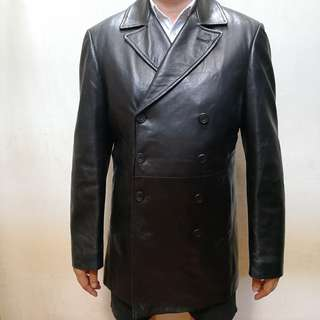 Alfred Dunhill Soft Leather Trench Coat for MEn