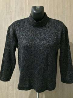 Glittered Knit Blouse