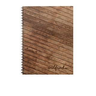 Personalized Notebooks - Rustic Wood
