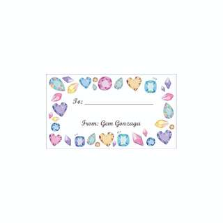 Personalized Gift Tags - Precious Gems