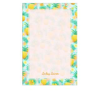 Personalized Notepads - Tropical Pineapples
