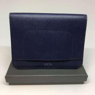 [NEW & REDUCED] Tumi Passport Holder Leather (Dark Blue)
