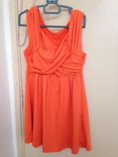 Orange toga top