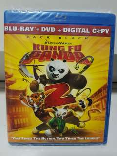 Kung Fu Panda 2 Blu Ray + DVD Brand New Copy