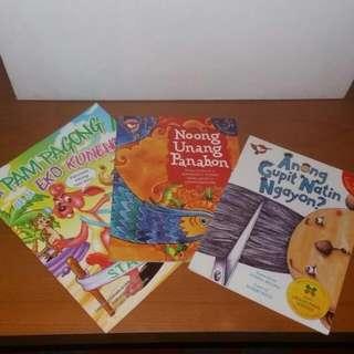 3 Local Books, Anong Gupit..., Si Pam Pagong... And Noong Unang...