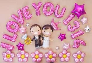 示愛/求婚/結婚/週年紀念 I Love U 1314 汽球佈置套裝 (I Love U Balloon Decoration Package)