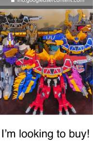 I want to buy full set kroryuger aka Dino charge power rangers
