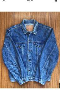 Vintage Levi's Trucker Jacket XL Denim Made in Aus