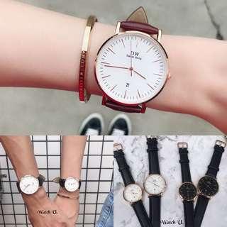 🚚 百搭簡約質感情侶對錶 手錶