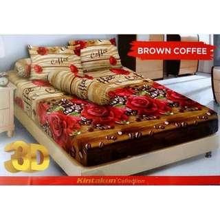 Sprei kintakun d'luxe brown coffee