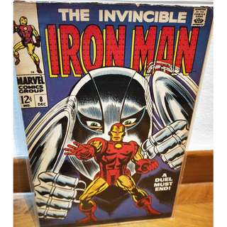 The Invincible Iron Man #8 (Marvel) FN!  Silver Age Gladiator