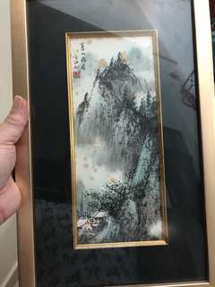 Hand painting Scenery in frame
