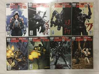 (COMPLETE SET) Snake Eyes: Cobra Civil War