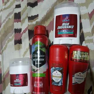 OLD SPICE SET with FREE 14G HIGH ENDURANCE DRY CREAM!!