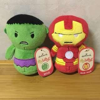 Hallmark itty bittys - Marvel - Hulk or Iron Man