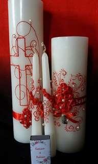 Customized 4pc unity candle