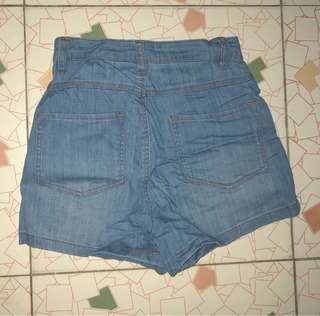 Denim Hi-waist short