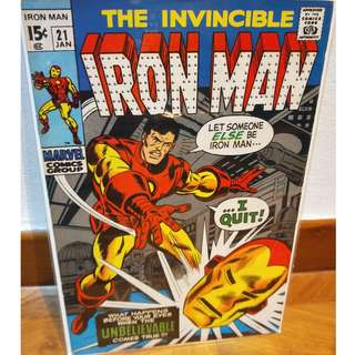 The Invincible Iron Man #21 (Marvel) VF!  Silver Age Crimson Dynamo III