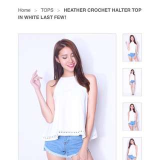 Neonmello Heather Top in White