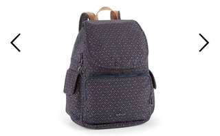 Authentic Kipling City Pack Backpack in Woven Blue Geo