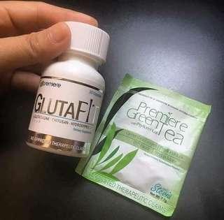 SLIMMING SET (GLUTAFIT/PREMIERE GREEN TEA + FREE SOAP )