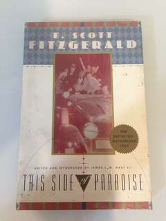 F. Scott Fitzgerald - This Side of Paradise