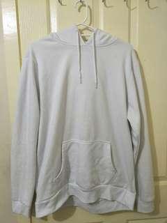 Over size Plain white jumper