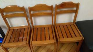 Wooden dinning chairs