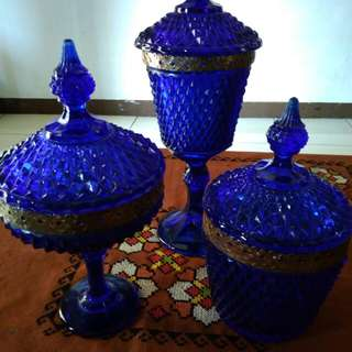 3 pc toples crystal biru